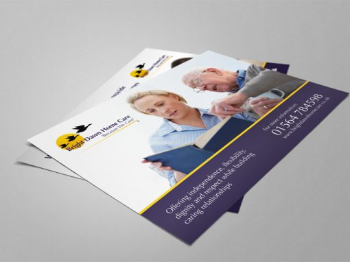 Bright Dawn Care Home – design for print